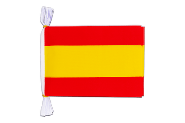"Spain without crest Flag Bunting 6x9"", 3 m"