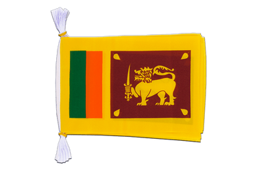 "Sri Lanka Mini Flag Bunting 6x9"", 3 m"