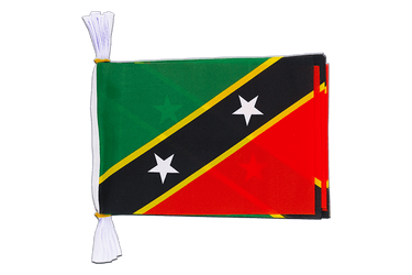 "Saint Kitts and Nevis Mini Flag Bunting 6x9"", 3 m"