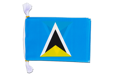 "Saint Lucia - Mini Flag Bunting 6x9"", 3 m"