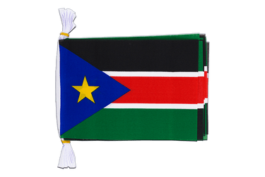 "Southern Sudan Flag Bunting 6x9"", 3 m"
