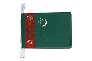 "Turkmenistan Mini Flag Bunting 6x9"", 3 m"