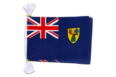 "Turks and Caicos Islands Flag Bunting 6x9"", 3 m"