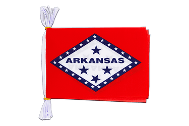 "USA Arkansas Flag Bunting 6x9"", 3 m"