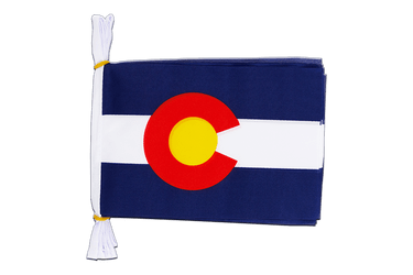 "USA Colorado - Mini Flag Bunting 6x9"", 3 m"