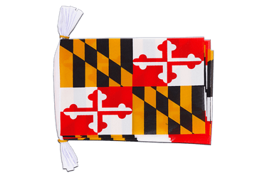 Mini Guirlande fanion USA US Maryland 15 x 22 cm, 3 m