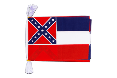 "USA Mississippi - Mini Flag Bunting 6x9"", 3 m"