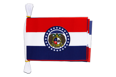 "USA Missouri - Mini Flag Bunting 6x9"", 3 m"