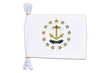 "USA Rhode Island - Mini Flag Bunting 6x9"", 3 m"
