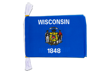 "USA Wisconsin - Mini Flag Bunting 6x9"", 3 m"