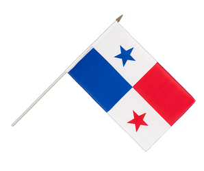 Panama Hand Waving Flag 12x18""