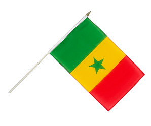 Senegal Hand Waving Flag 12x18""