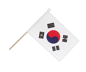 South Korea Hand Waving Flag 6x9""