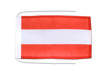Austria Flag with ropes 8x12""