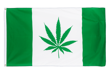 Canada with Marijuana 3x5 ft Flag