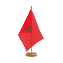 "Morocco Table Flag 6x9"", wooden"