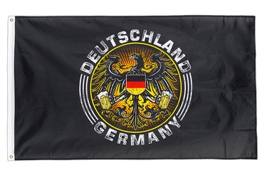 German Eagle with beer 3x5 ft Flag