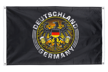 German Eagle with beer Banner Flag 3x5 ft, landscape