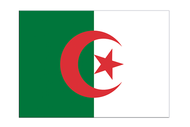 "Algeria Flag Sticker 3x4"", 5 pcs"