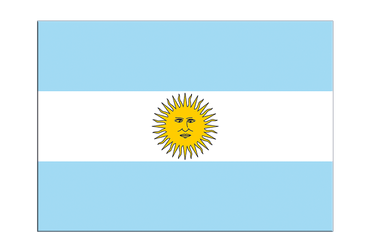 "Argentina Flag Sticker 3x4"", 5 pcs"