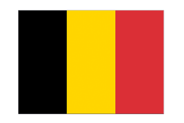 "Belgium Flag Sticker 3x4"", 5 pcs"