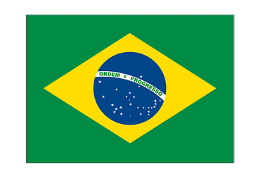 "Brazil Flag Sticker 3x4"", 5 pcs"