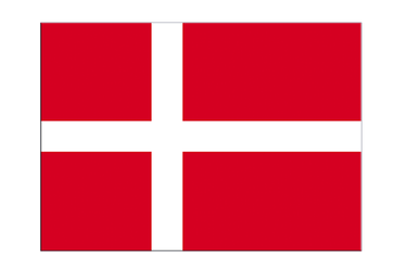 "Denmark Flag Sticker 3x4"", 5 pcs"