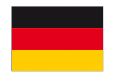 "Germany Flag Sticker 3x4"", 5 pcs"