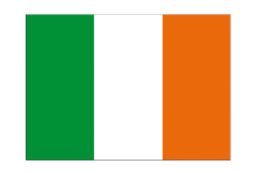 "Ireland Flag Sticker 3x4"", 5 pcs"