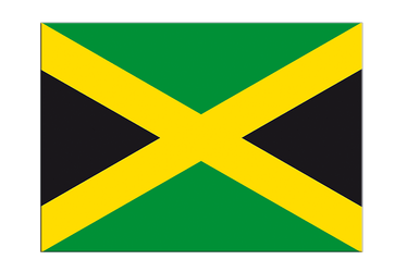 "Jamaica Flag Sticker 3x4"", 5 pcs"