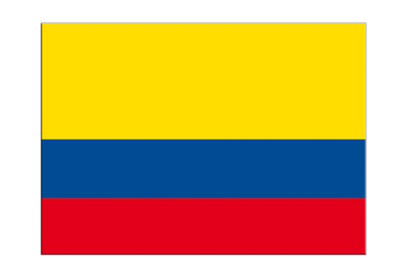 "Colombia Flag Sticker 3x4"", 5 pcs"
