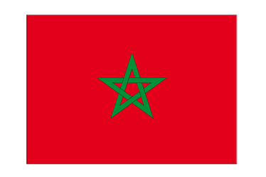 "Morocco Flag Sticker 3x4"", 5 pcs"