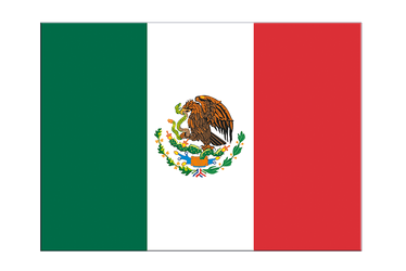 "Mexico Flag Sticker 3x4"", 5 pcs"