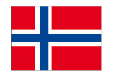"Norway Flag Sticker 3x4"", 5 pcs"