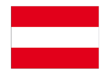 "Austria Flag Sticker 3x4"", 5 pcs"