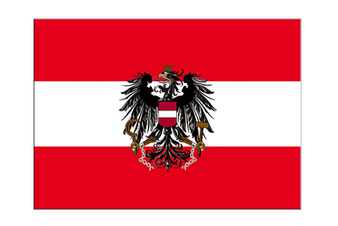 "Austria eagle Flag Sticker 3x4"", 5 pcs"