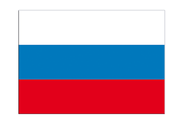 "Russia Flag Sticker 3x4"", 5 pcs"