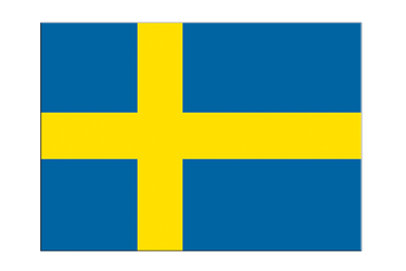 "Sweden Flag Sticker 3x4"", 5 pcs"