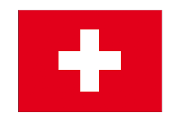 "Switzerland Flag Sticker 3x4"", 5 pcs"