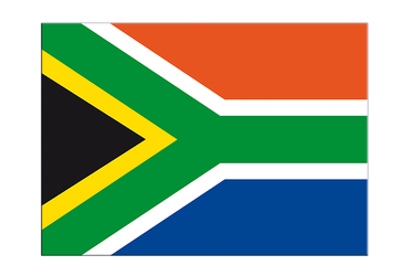 "South Africa Flag Sticker 3x4"", 5 pcs"