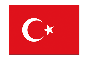 "Turkey Flag Sticker 3x4"", 5 pcs"