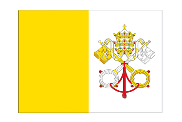 "Vatican Flag Sticker 3x4"", 5 pcs"