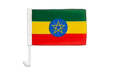 Ethiopia with star Car Flag 12x16""