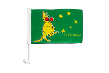 Kangaroo Car Flag 12x16""