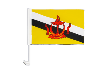 Brunei Car Flag 12x16""