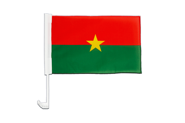Burkina Faso Car Flag 12x16""