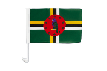 Dominica Car Flag 12x16""