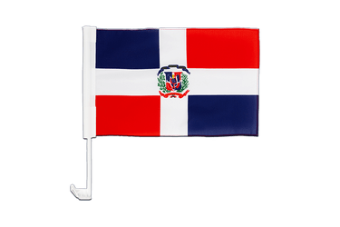 Dominican Republic Car Flag 12x16""