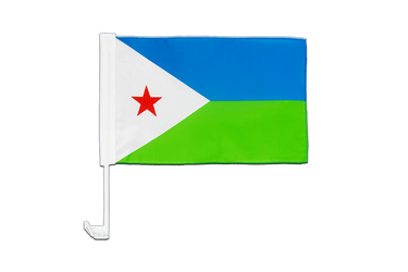 Djibouti - Car Flag 12x16""