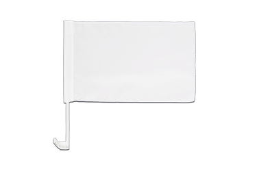 White - Car Flag 12x16""